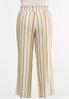 Plus Size Striped Wide Leg Linen Pants alternate view