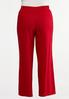Plus Size Red Linen Beach Pants alternate view