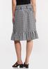 Belted Gingham Wrap Skirt alternate view