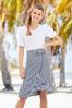 Belted Gingham Wrap Skirt alt view