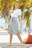 Tie Front Linen Skirt alt view