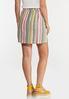 Striped Side Pocket Skirt alternate view
