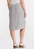 Plus Size Tie Front Linen Skirt alternate view
