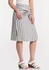 Plus Size Tie Front Linen Skirt alt view