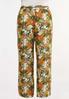 Plus Size Tropical Floral Gauze Pants alternate view