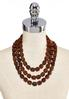 Triple Wood Bead Necklace alternate view