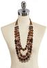 Layered Wooden Bead Necklace alternate view
