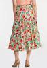 Plus Size Fruit Belted Midi Skirt alternate view
