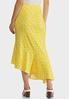 Plus Size Ruffled Floral Midi Skirt alternate view