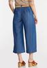 Belted Chambray Cropped Pants alternate view