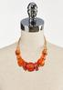 Orange Bead Cord Necklace alternate view