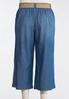 Plus Size Belted Chambray Cropped Pants alternate view