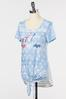 Plus Size All American Tie Front Tee alt view