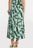 Plus Size Tropical Palm Button Front Skirt alternate view