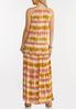 Plus Size Tiered Tie Dye Maxi Dress alternate view