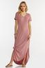Plus Size Rose Knotted Maxi Dress alternate view