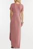 Plus Size Rose Knotted Maxi Dress alt view