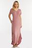 Plus Petite Rose Knotted Maxi Dress alt view