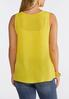 Plus Size Button Pocket Tank Top alternate view