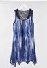 Plus Size High- Low Lace Trim Vest alternate view