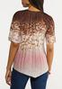 Plus Size Pleated Brown Dye Top alternate view