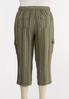 Plus Size Striped Linen Crop Cargo Pants alternate view
