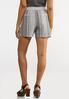 Gray Stripe Linen Shorts alternate view
