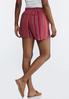 Pink Stripe Linen Shorts alternate view