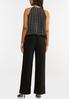 Plus Size Pleated Polka Dotted Jumpsuit alternate view