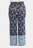 Plus Size Floral Tie Dye Panel Pants alternate view