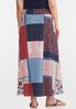 Patchwork Tie Front Maxi Skirt alternate view