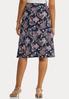 Plus Size Paisley Tie Front Skirt alternate view