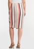 Button Raspberry Stripe Skirt alternate view