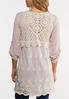 Ivory Crochet Mesh Vest alternate view
