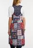Plus Size Crochet Trim Patchwork Vest alternate view