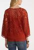 Plus Size Tassel Tie Crochet Top alternate view
