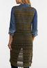 Plus Size Olive Crochet Vest alternate view