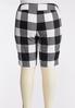 Plus Size Checkered Bermuda Shorts alternate view