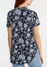 Plus Size Navy Floral Top alternate view