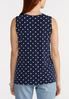 Plus Size Draped Navy Dotted Tank alternate view