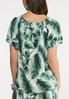 Plus Size Tropical Palm Poet Top alternate view