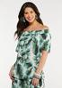 Plus Size Tropical Palm Poet Top alt view
