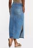 Plus Size Denim Side Slit Maxi Skirt alternate view