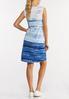 Plus Size Blue Tie Dye Dress alternate view