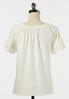 Plus Size Eyelet Lace Sleeve Top alternate view