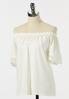 Plus Size Eyelet Lace Sleeve Top alt view