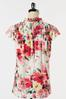 Floral Ruffled Mock Neck Top alt view