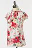 Plus Size Floral Ruffled Mock Neck Top alternate view