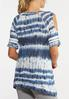 Plus Size Tie Dye Cold Shoulder Tee alternate view
