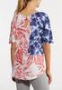 Plus Size Americana Tie Dye Tee alternate view